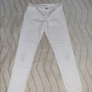 LOFT Ann Taylor white jeans